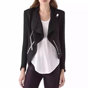 Helmut Lang cropped jacket leather trim